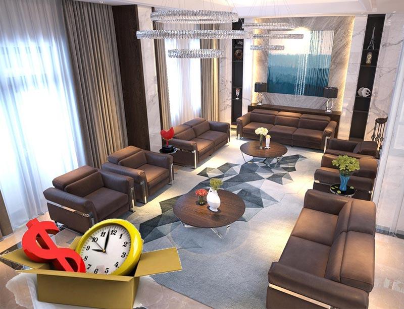 Thuê thiết kế nội thất biệt thự giúp tiết kiệm thời gian, công sức