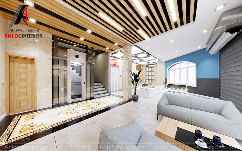 Không gian thoáng đãng, rộng rãi với cách phối hợp nội thất ấn tượng