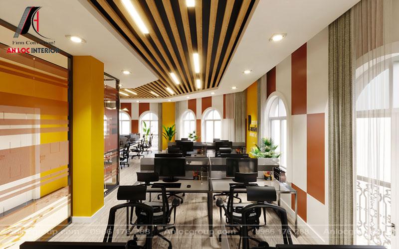 Cách pha trộn màu sắc độc đáo giữa tông màu vàng tạo nên hiệu ứng độc đáo