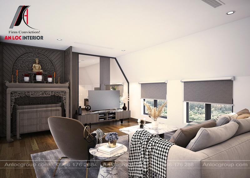 Thảm trải sàn đồng nhất màu sắc với đồ nội thất