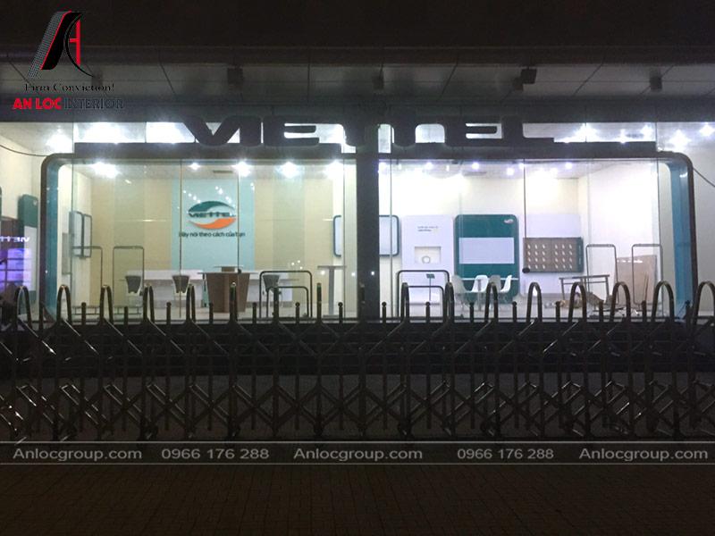 Thi công showroom Viettel Tiền Giang