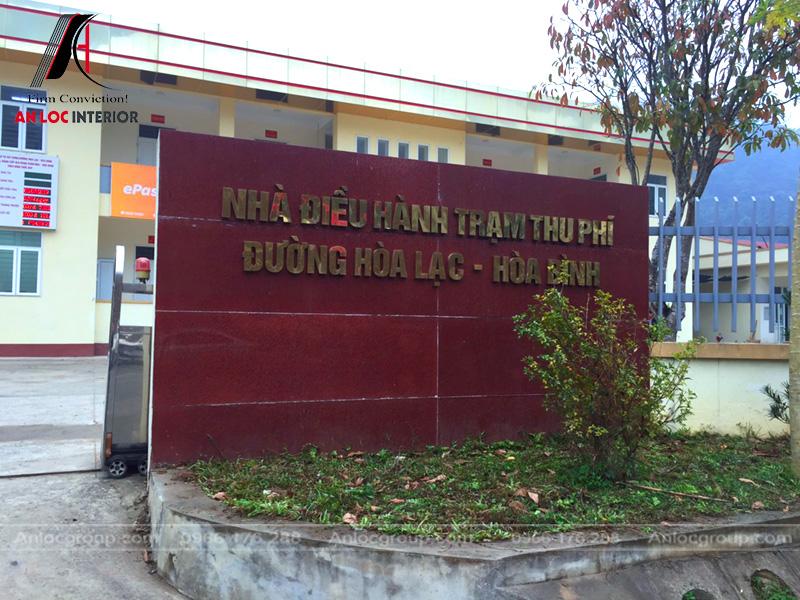 Biển nhận diện nhà điều hành trạm thu phí Hòa Lạc - Hòa Bình