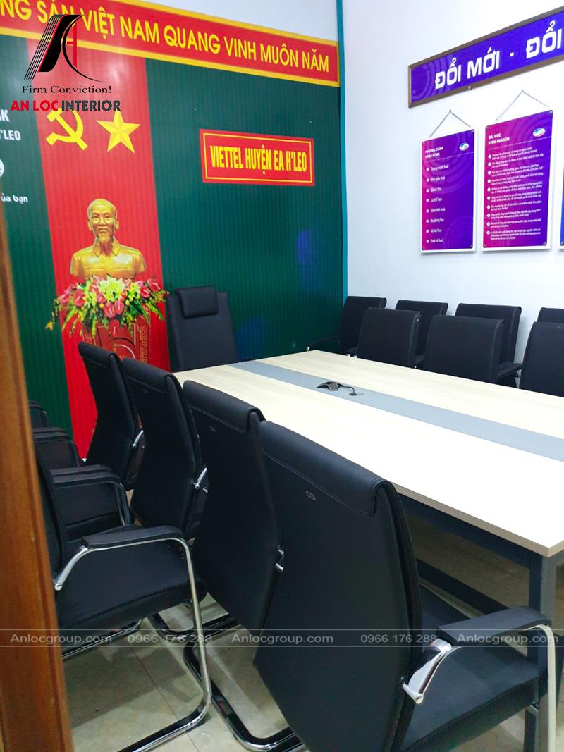 Hình ảnh cận cảnh chất liệu ghế ngồi phòng họp