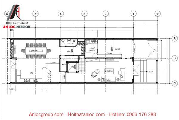 Thiết kế nhà 3 tầng 5x16m với việc phân chia các phòng chức năng khoa học, tỉ mỉ đến từng chi tiết