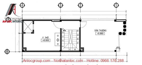 Bản vẽ thiết kế nhà 3 tầng đơn giản, độc đáo đến từng chi tiết