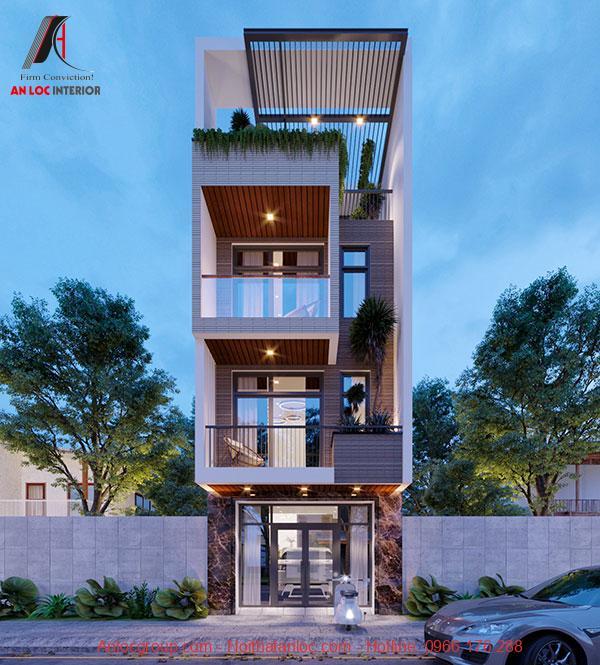 Thiết kế nhà 3 tầng 1 tum đòi hỏi sự thông thoáng, rộng mở bằng việc sử dụng thông tường