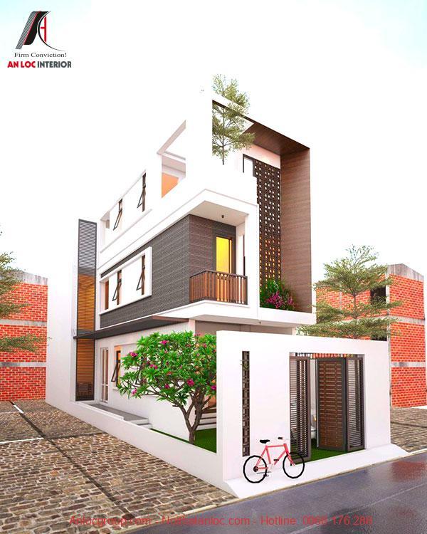Sử dụng 2 mặt tiền cũng là cách tạo điểm nhấn cho căn nhà