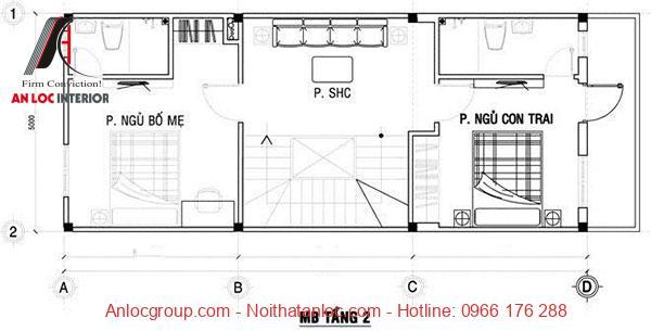 Mẫu nhà 50m2 với tầng đơn giản, phát huy tối đa nhu cầu sử dụng