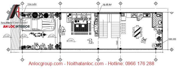Bản vẽ thiết kế nhà 5x10 chi tiết, tinh tế đến từng đường nét