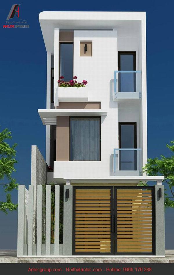 Thiết kế nhà 50m2 3 tầng ấn tượng, độc đáo