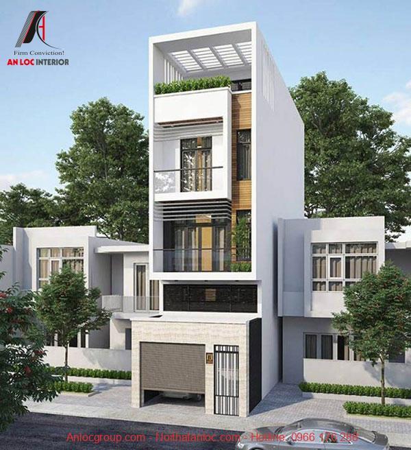 Mẫu thiết kế nhà lệch tầng 5x18 sử dụng kiến trúc thông tầng đọc đáo