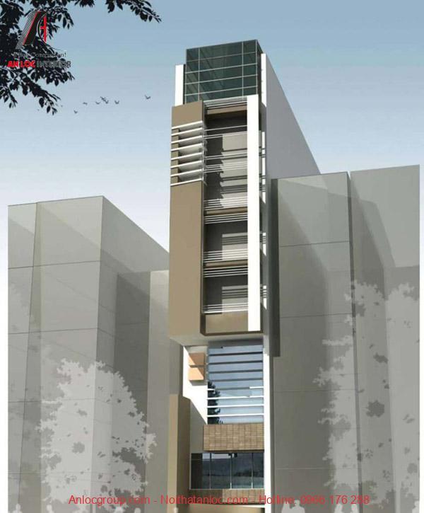 Thiết kế nhà lệch tầng 3x10m