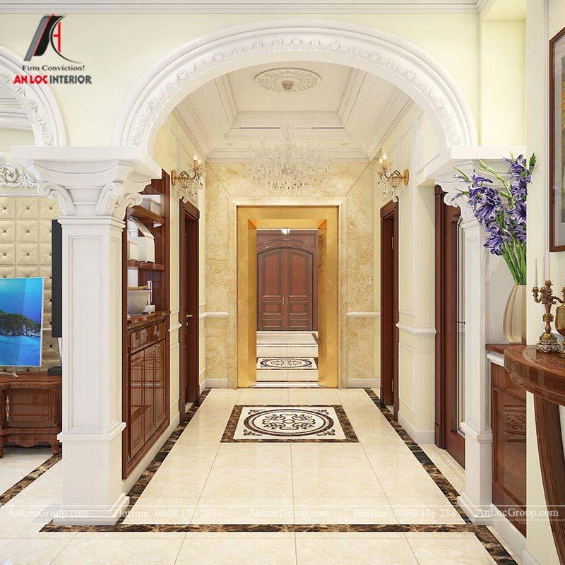 Mẫu thiết kế nội thất biệt thự tân cổ điển đẹp
