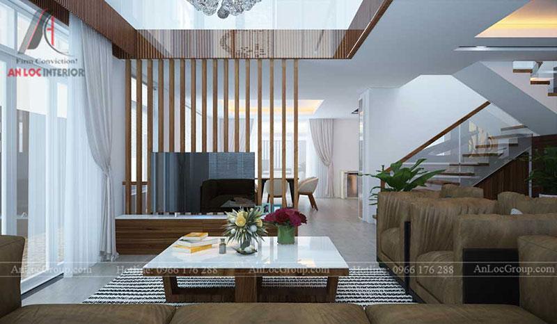 Thiết kế nội thất biệt thự đẹp phong cách hiện đại