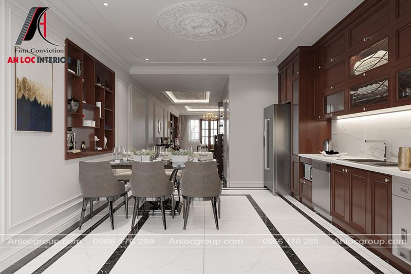 Nội thất bếp sử dụng món đồ cao cấp, tinh tế đến từng chi tiết