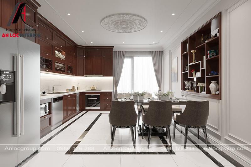 Cửa sổ lớn ở phòng bếp giúp phòng hạn chế mùi trong nấu nướng