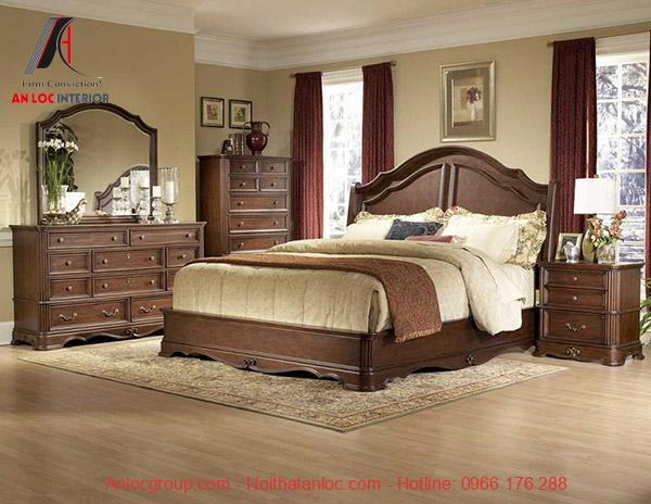 Phỏng ngủ được sắp đặt toàn bộ nội thất bằng gỗ sang trọng