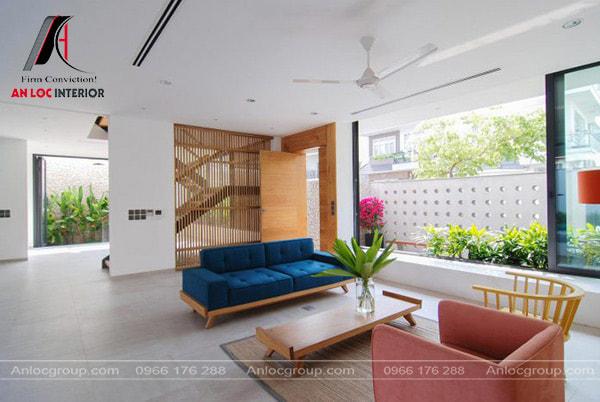 Mẫu 17 - Thiết kế phòng khách đẹp đậm chất country style