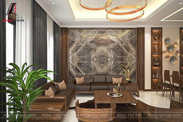 Thiết kế phòng khách đẹp tối thiểu phải đạt 12m2 và đặt gần lối ra vào
