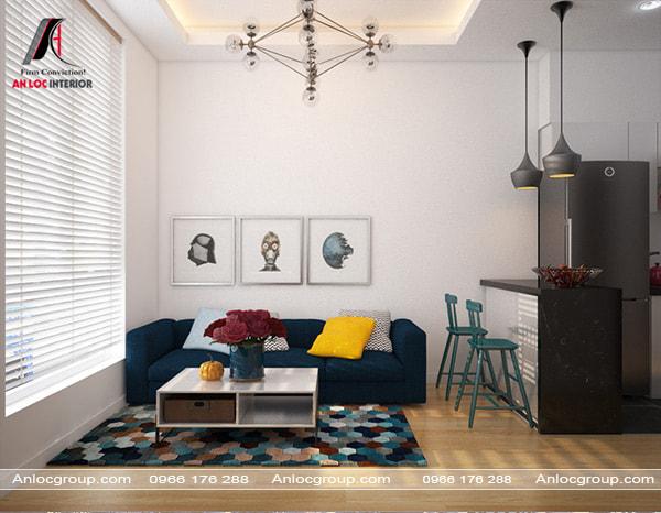 Mẫu 29 - Phòng khách cho căn hộ mini