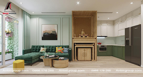 Mẫu 37 - Nội thất phòng khách chung cư tân cổ điển
