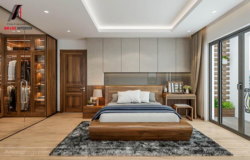 Vật liệu gỗ Óc Chó cao cấp được trang hoàng thông qua các món đồ nội thất
