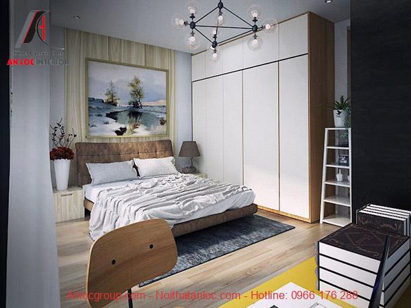 Đồ nội thất trong không gian phòng ngủ đơn giản nhẹ nhàng
