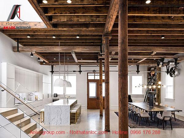 Lộ kết cấu không gian bếp nấu và phòng ăn