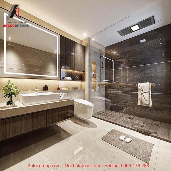 Thiết kế nhà vệ sinh trong phong cách đương đại