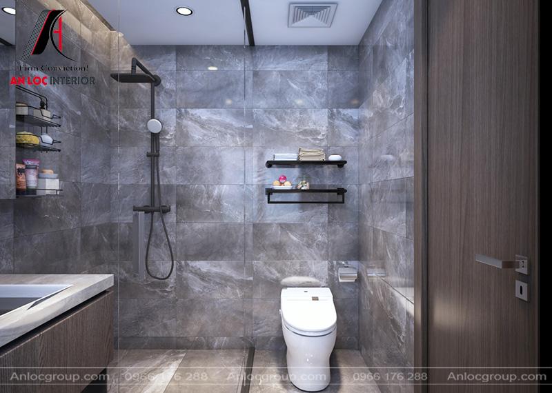 Phòng tắm đồng nhất với tổng thể thiết kế chung