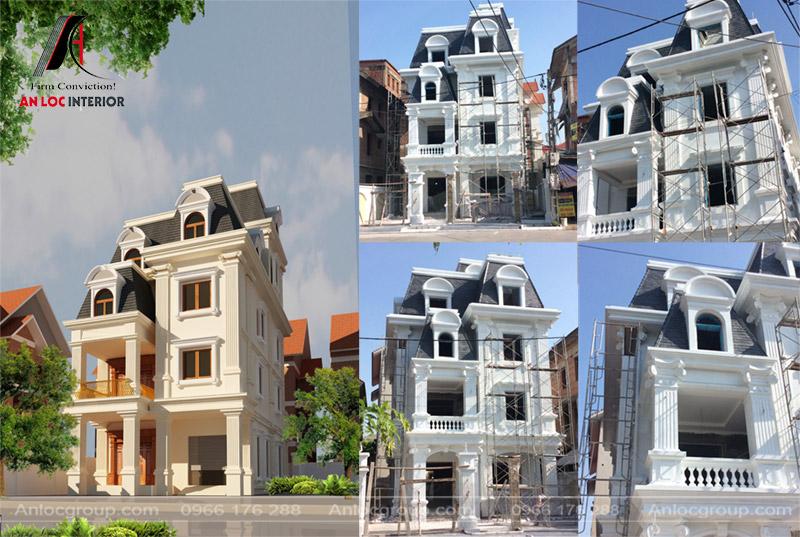Đơn giá thiết kế nhà phố biệt thự