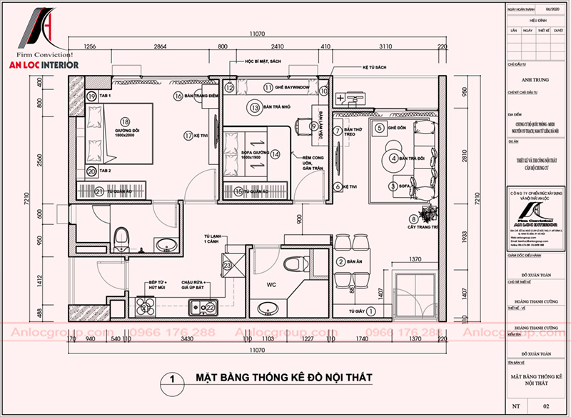 Mặt bằng căn hộ 80m2 tại chung cư MHDI