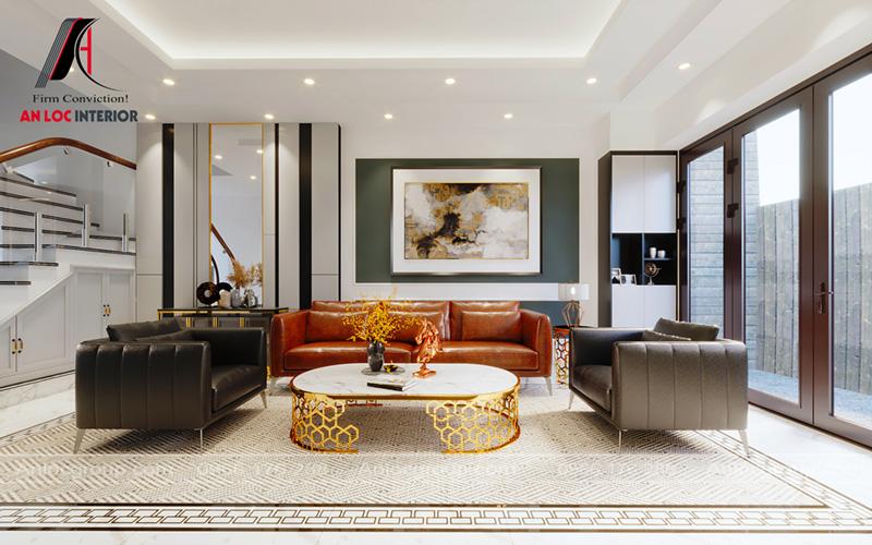 Thiết kế nội thất phòng khách nhà phố tại Hải Phòng