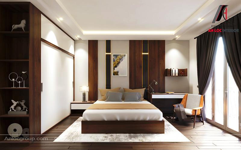 Mẫu thiết kế phòng ngủ master nhà phố tại Hải Phòng