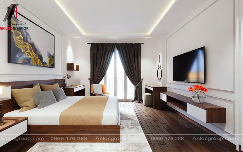 Sàn gỗ được sử dụng tạo nên vẻ đẹp sang trọng, cuốn hút
