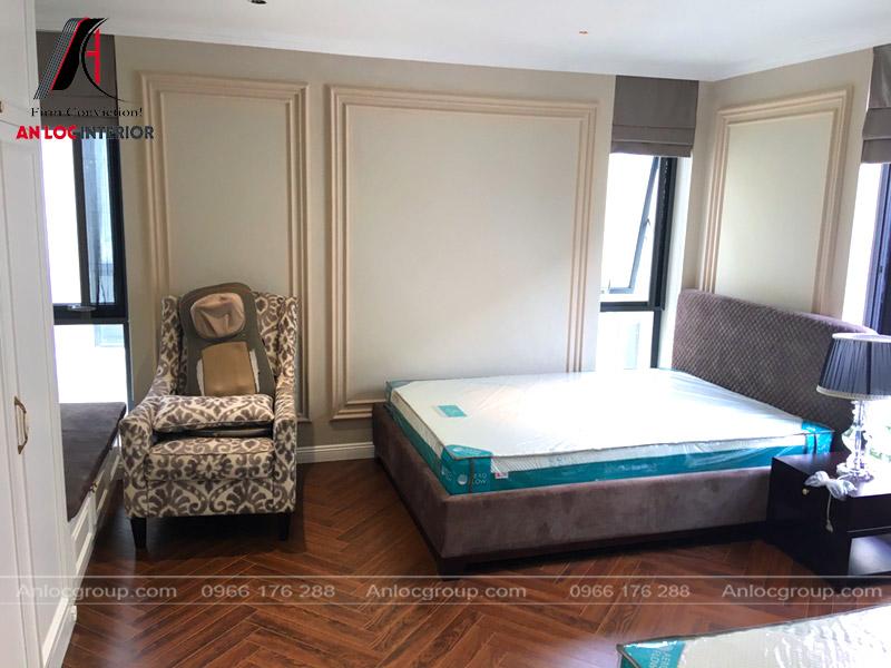 Phòng ngủ đôi trong biệt thự 25 Vũ Ngọc Phan