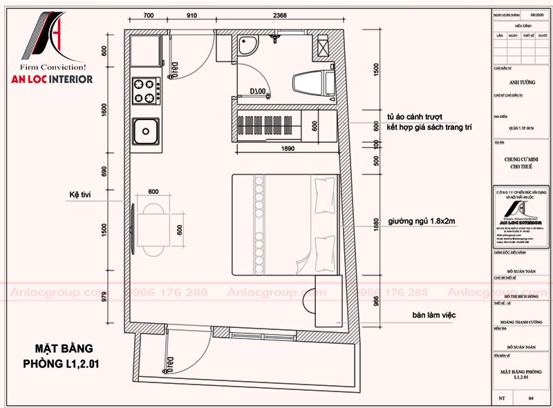 Thiết kế căn hộ mini tại tphcm với cách bố trí mặt bằng khoa học
