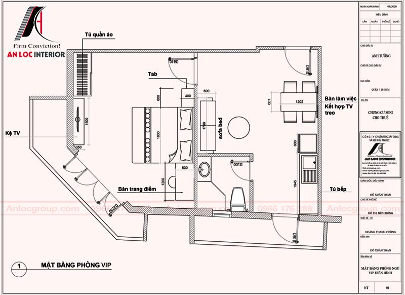 Bố trí không gian chung cư mini khoa học, đảm bảo riêng tư trong sinh hoạt