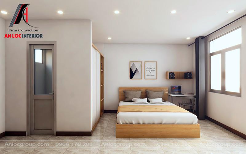 Thiết kế chung cư mini cho thuê với phòng ngủ rộng rãi, thoáng đãng