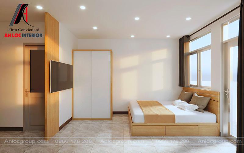 Khu vực vệ sinh và phòng ngủ được phân tách rõ ràng