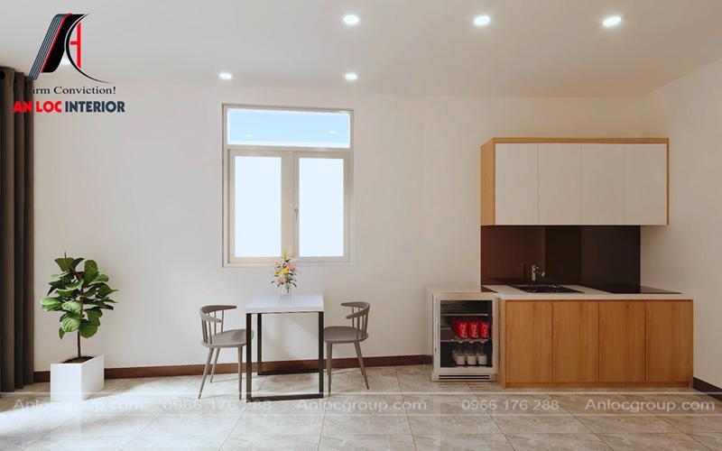Khu bếp gần cửa sổ nhằm đảm bảo thông thoáng trong nấu nướng