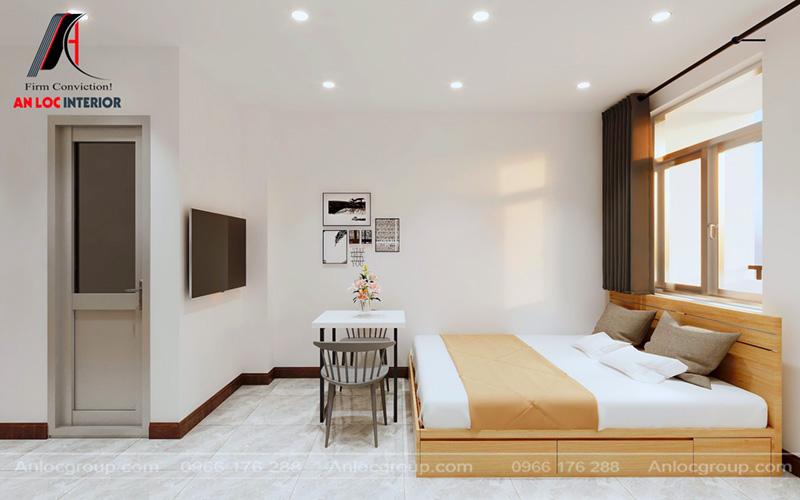 Tranh treo tường đơn giản giúp hạn chế tối đa góc chết trong phòng