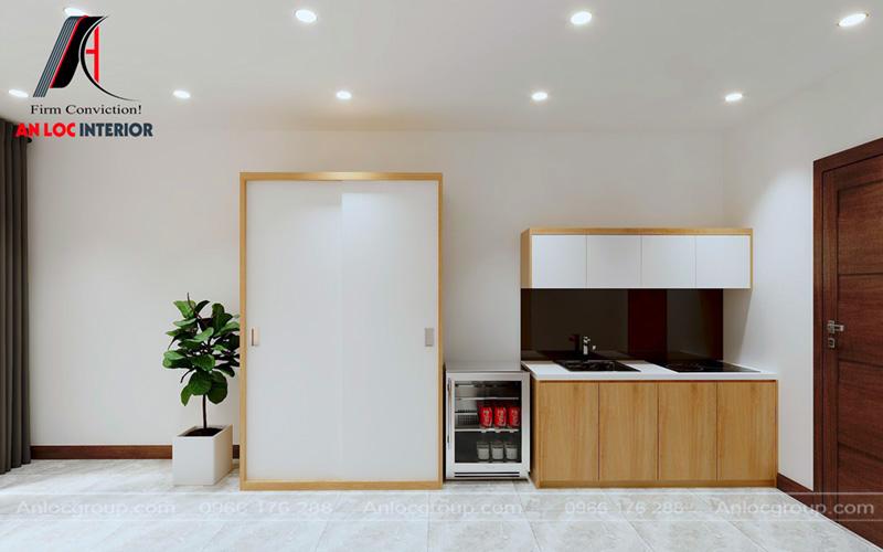Hệ thống chiếu sáng của chung cư mini cho thuê ấn tượng, hiện đại