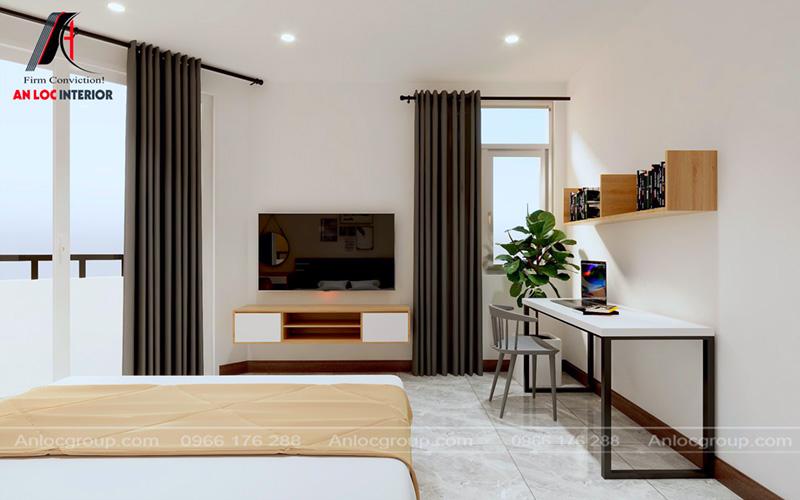 Tiện nghi trong phòng ngủ giúp khách thuê phòng có không gian nghỉ ngơi thoải mái nhất