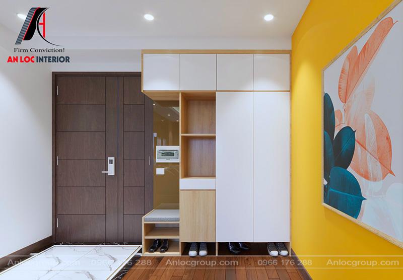 Thiết kế nội thất chung cư 80m2 tại MHDI ấn tượng