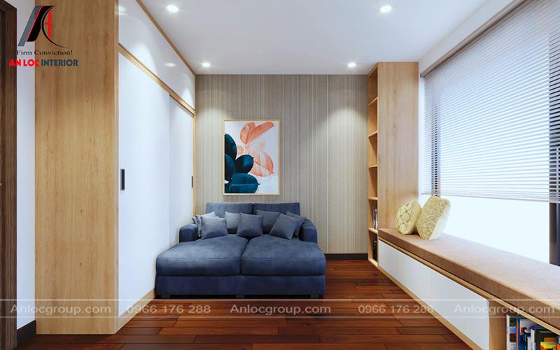 Các chi tiết trang trí trong thiết kế nội thất chung cư 80m2 tại MHDI đơn giản, tinh tế