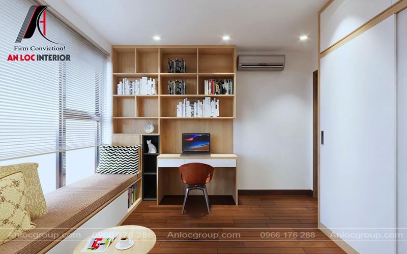 Đồ nội thất phòng làm việc chung cư CT5 - CT6 tại Lê Đức Thọ ấn tượng, hài hòa
