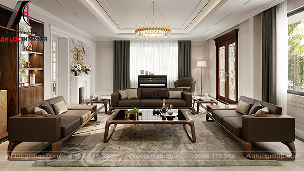 Mẫu 16 - Phòng khách đơn giản mà đẹp theo hướng mở với thiên nhiên