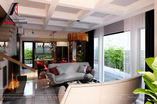 Mẫu 12 - Phòng khách biệt thự mini đẹp