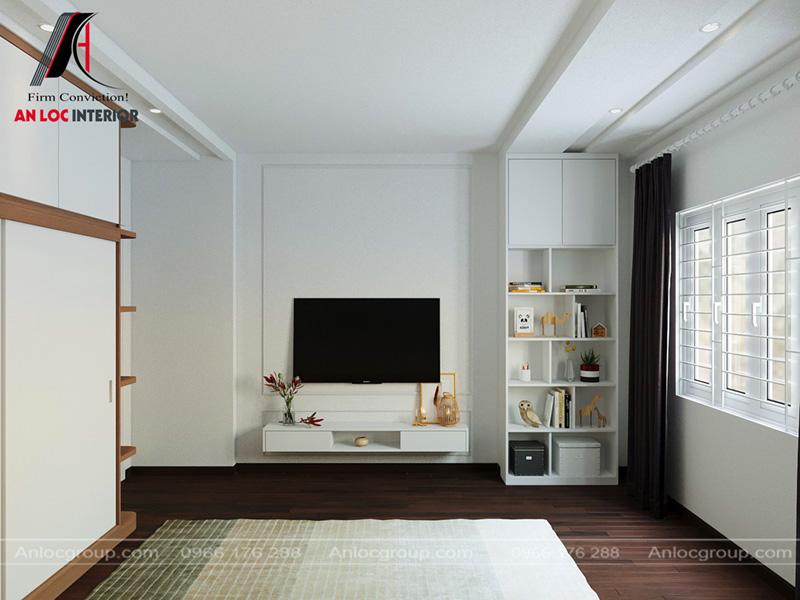 Gam màu trắng tính tế giúp nổi bật toàn bộ gian phòng